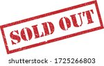 sold out stamp. red text rubber ... | Shutterstock .eps vector #1725266803