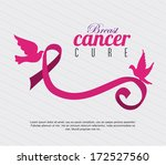 cancer over lineal  background... | Shutterstock .eps vector #172527560