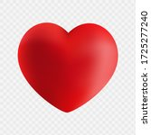 big red heart isolated on... | Shutterstock .eps vector #1725277240