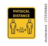 physical distance sign. keep... | Shutterstock .eps vector #1725296863