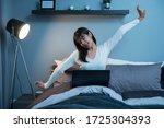 beautiful asian woman... | Shutterstock . vector #1725304393