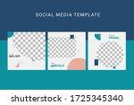 editable social media template... | Shutterstock .eps vector #1725345340