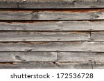 Old Schoolhouse aged wood siding - background texture - stock photo