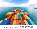 cargo ships entering one of the ...
