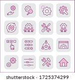 set of settings and setup... | Shutterstock .eps vector #1725374299