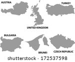 map of countries worldwide.  | Shutterstock .eps vector #172537598