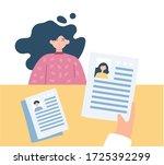 business meeting interview.... | Shutterstock .eps vector #1725392299