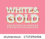 vector white and gold beautiful ... | Shutterstock .eps vector #1725396406