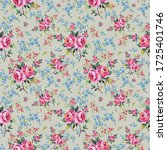 bright seamless pattern flowers ...   Shutterstock . vector #1725401746