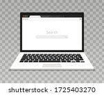 laptop with open browser.... | Shutterstock .eps vector #1725403270