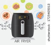realistic air fryers with ...   Shutterstock .eps vector #1725405013