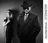 film noir. detective man in a... | Shutterstock . vector #172540709