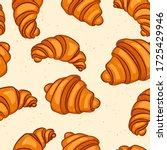 seamless pattern with tasty...   Shutterstock .eps vector #1725429946