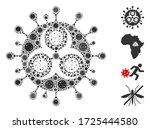 collage hazard virus composed...   Shutterstock .eps vector #1725444580