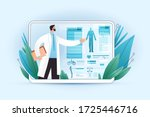 medical full body screening... | Shutterstock .eps vector #1725446716
