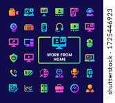 gradient vector icons related... | Shutterstock .eps vector #1725446923