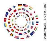 a lot of flags of sovereign... | Shutterstock .eps vector #1725450589