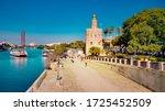 seville  spain   10 february... | Shutterstock . vector #1725452509
