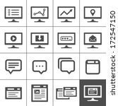 computer screen symbols and... | Shutterstock .eps vector #172547150