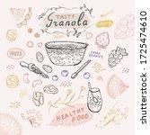 seamless granola pattern ... | Shutterstock .eps vector #1725474610