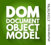 dom   document object model... | Shutterstock .eps vector #1725478786
