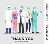 thank you doctors and nurses ...   Shutterstock .eps vector #1725484906