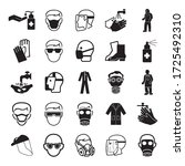 set of equipments protection...   Shutterstock .eps vector #1725492310