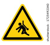 warning back crush force from...   Shutterstock .eps vector #1725492340