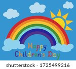 happy children's day greeting...   Shutterstock .eps vector #1725499216