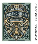 vintage gin label. vector... | Shutterstock .eps vector #1725500410