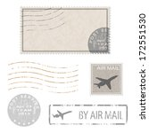 set of postal business icons ... | Shutterstock .eps vector #172551530