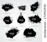 set of grunge banner. for... | Shutterstock . vector #172552934