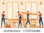 furniture assembly concept... | Shutterstock .eps vector #1725536686