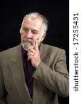 shot of a distinguished older... | Shutterstock . vector #17255431
