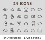 simple set of line vector home... | Shutterstock .eps vector #1725554563