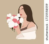 Woman\'s Collage Sketch Portrai...