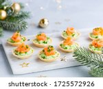 Holidays Appetizer Canapes With ...