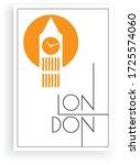 london  minimalist art design ... | Shutterstock .eps vector #1725574060