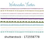 set of hand painted decorative... | Shutterstock .eps vector #172558778