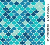 vector fish scale seamless...   Shutterstock .eps vector #1725600079