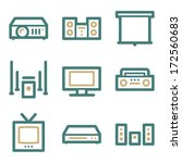 audio video web icons  two... | Shutterstock .eps vector #172560683