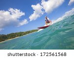 surfing a wave | Shutterstock . vector #172561568