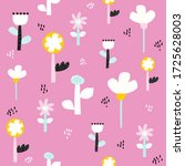 seamless pattern with fantasy... | Shutterstock .eps vector #1725628003