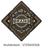 vintage label with floral... | Shutterstock .eps vector #1725632326