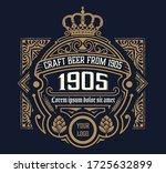 craft beer vintage label.... | Shutterstock .eps vector #1725632899