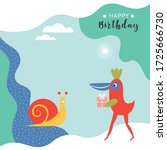 greeting card design. happy... | Shutterstock .eps vector #1725666730