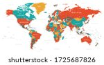 World Map Vintage Political  ...
