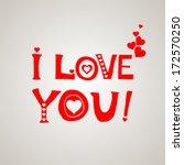 i love you  celebration... | Shutterstock .eps vector #172570250