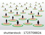 people silhouette symbols in... | Shutterstock .eps vector #1725708826