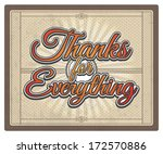 thanks for everything card.... | Shutterstock .eps vector #172570886